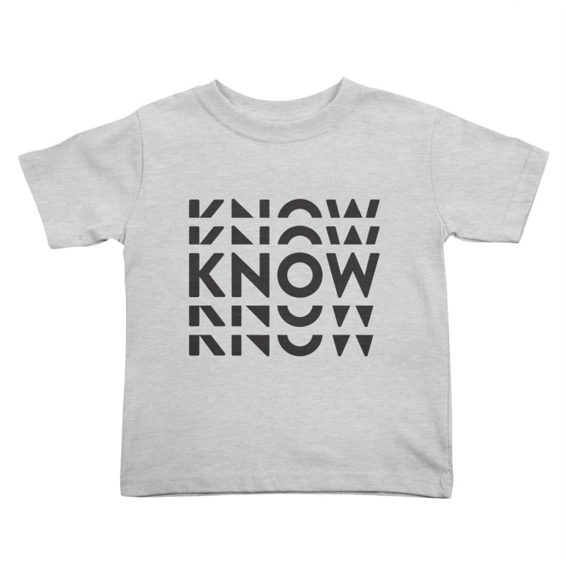 KNOW New Friends (Black) Kids Toddler T-Shirt by KNOW Identity