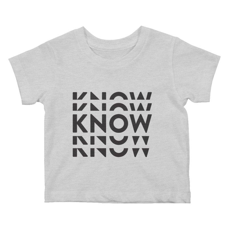 KNOW New Friends (Black Text) Kids Baby T-Shirt by KNOW Identity