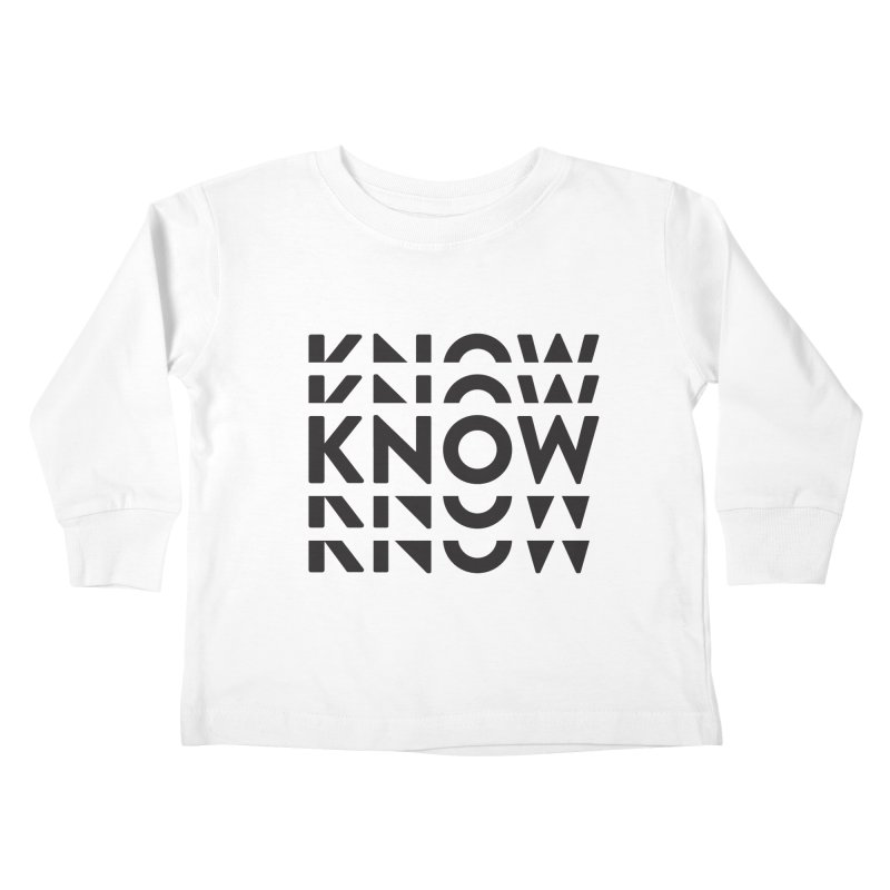 KNOW New Friends (Black) Kids Toddler Longsleeve T-Shirt by KNOW Identity