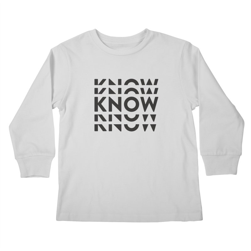 KNOW New Friends (Black Text) Kids Longsleeve T-Shirt by KNOW Identity