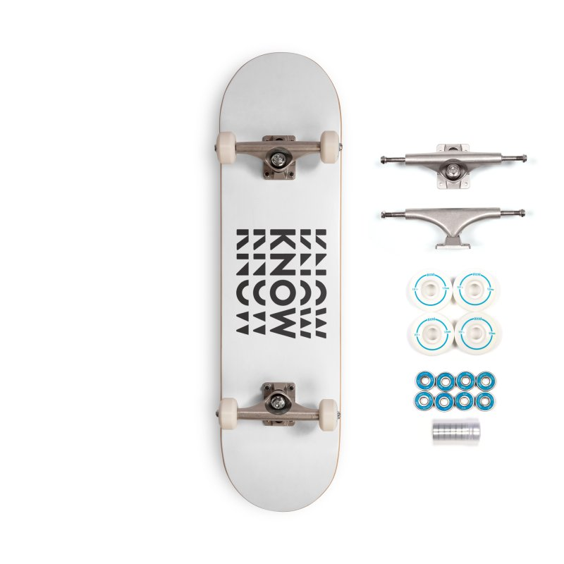 KNOW New Friends (Black) Accessories Complete - Basic Skateboard by KNOW Identity