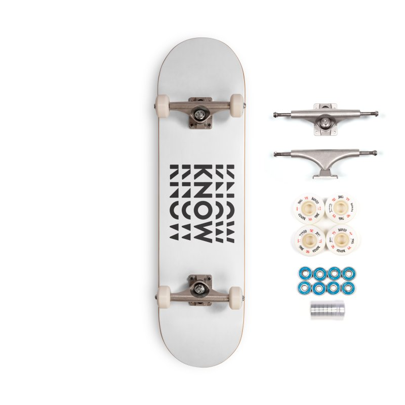 KNOW New Friends (Black) Accessories Complete - Premium Skateboard by KNOW Identity