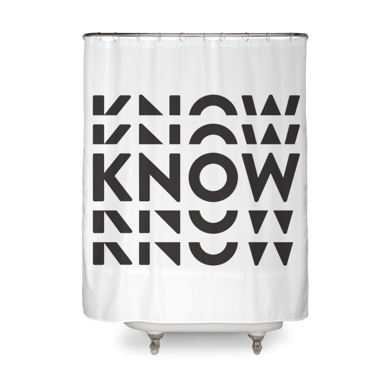 KNOW New Friends (Black Text) Home Shower Curtain by KNOW Identity