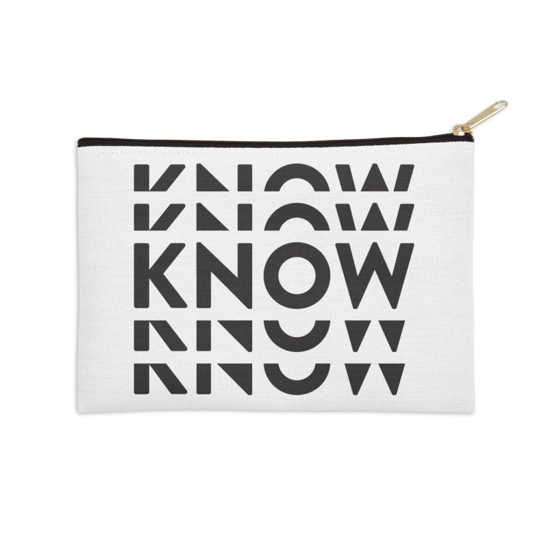 KNOW New Friends (Black Text) Accessories Zip Pouch by KNOW Identity