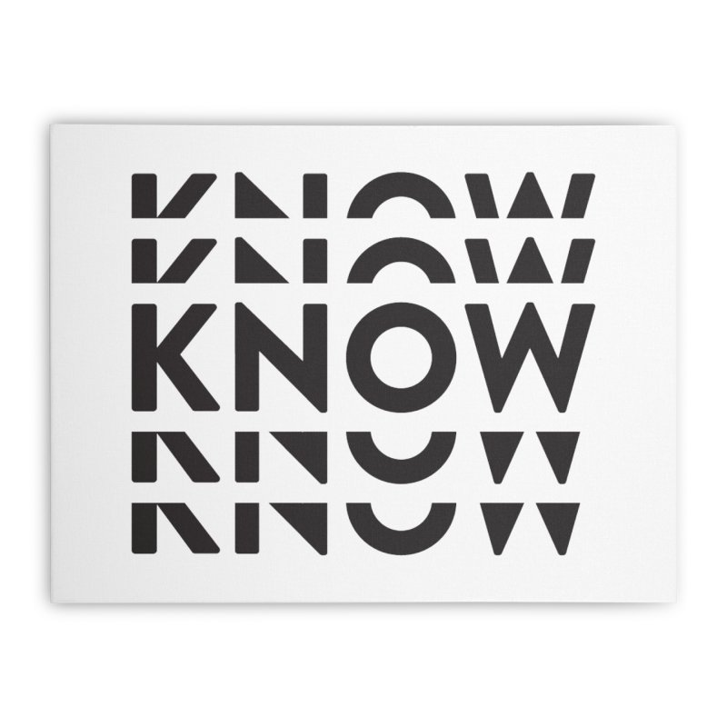 KNOW New Friends (Black) Home Stretched Canvas by KNOW Identity