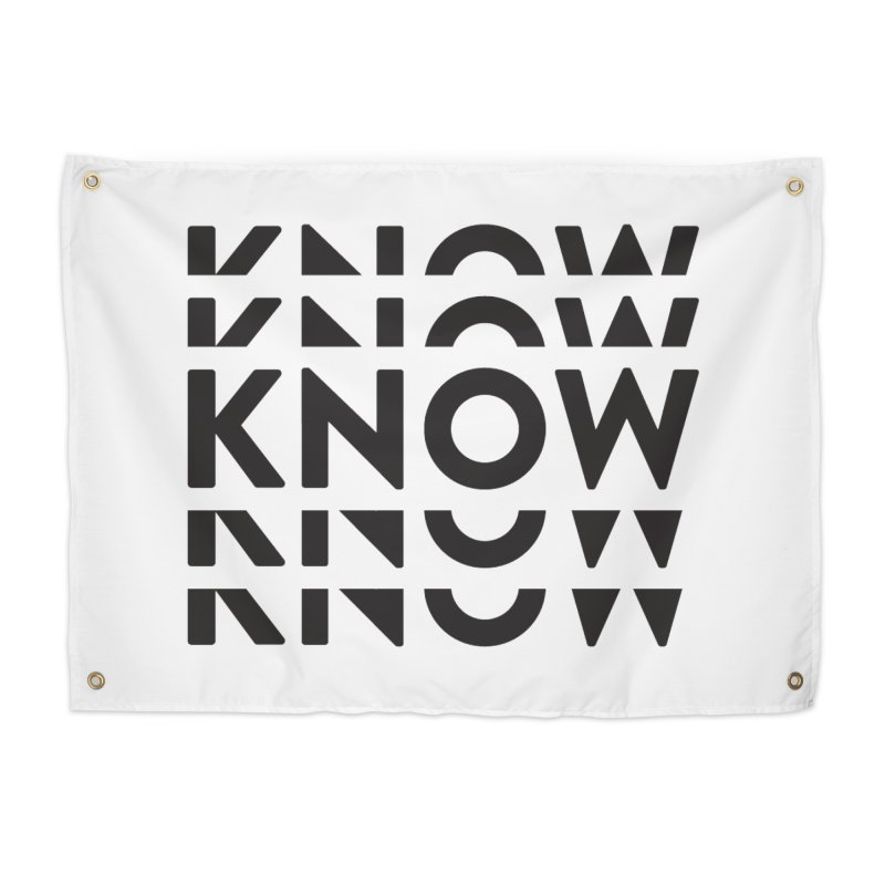 KNOW New Friends (Black Text) Home Tapestry by KNOW Identity