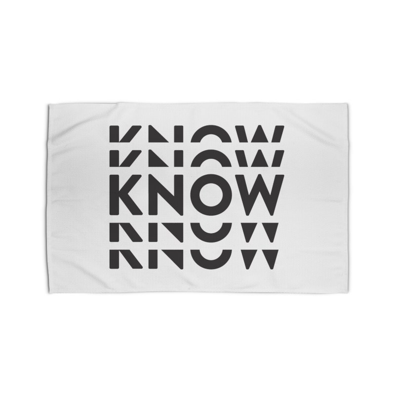 KNOW New Friends (Black Text) Home Rug by KNOW Identity