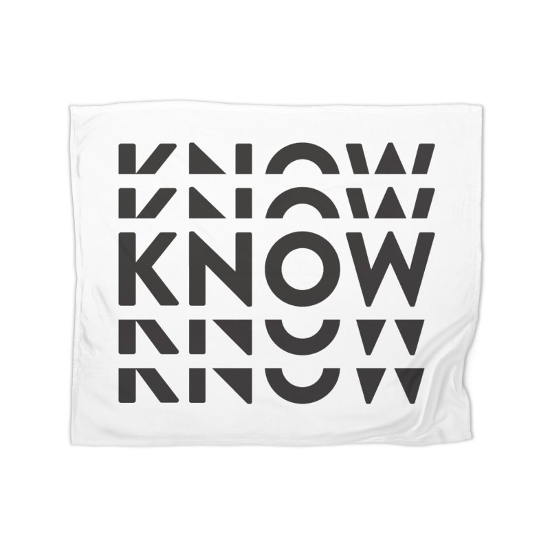 KNOW New Friends (Black) Home Fleece Blanket Blanket by KNOW Identity