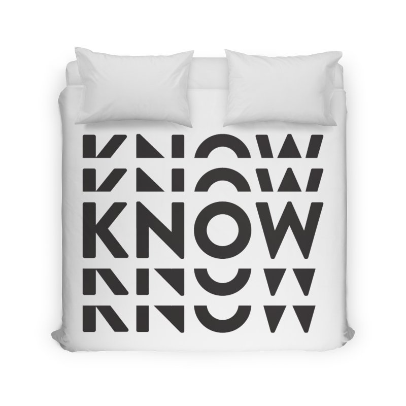 KNOW New Friends (Black) Home Duvet by KNOW Identity