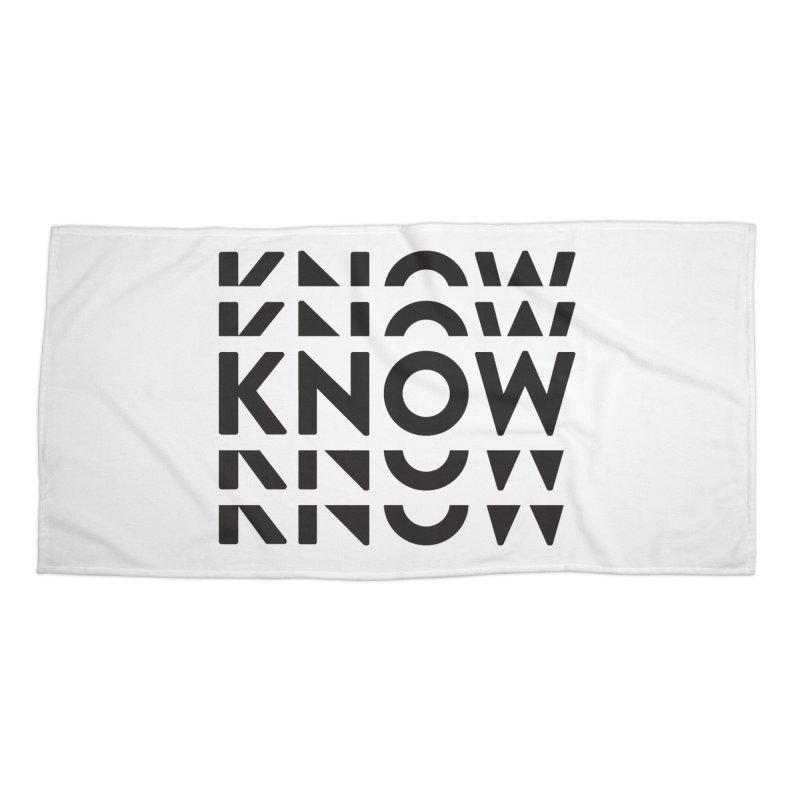 KNOW New Friends (Black Text) Accessories Beach Towel by KNOW Identity