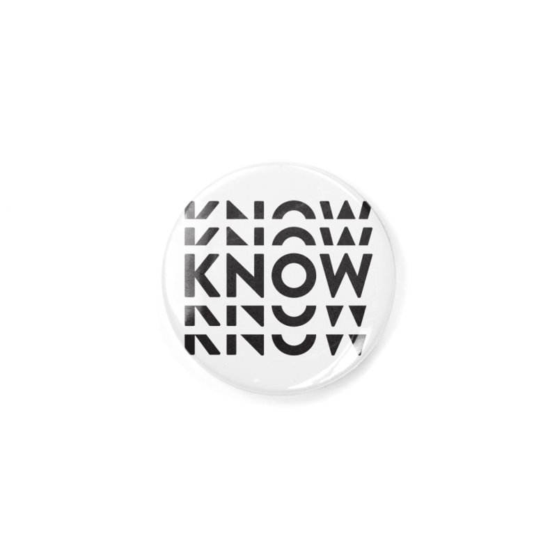 KNOW New Friends (Black Text) Accessories Button by KNOW Identity