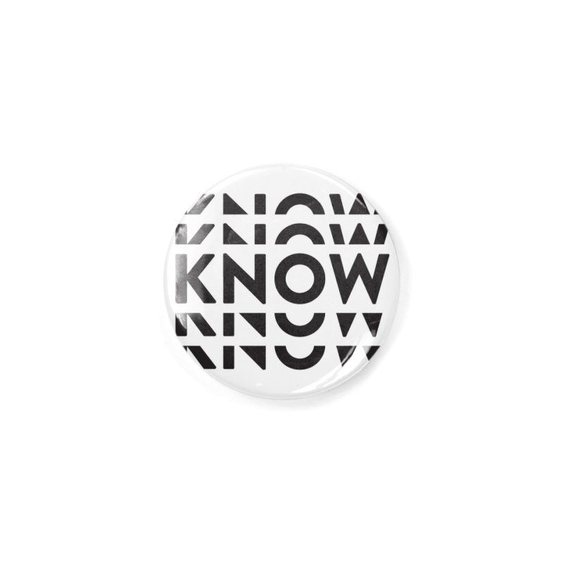 KNOW New Friends (Black) Accessories Button by KNOW Identity