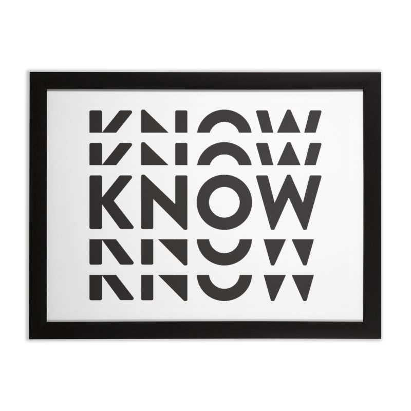 KNOW New Friends (Black) Home Framed Fine Art Print by KNOW Identity