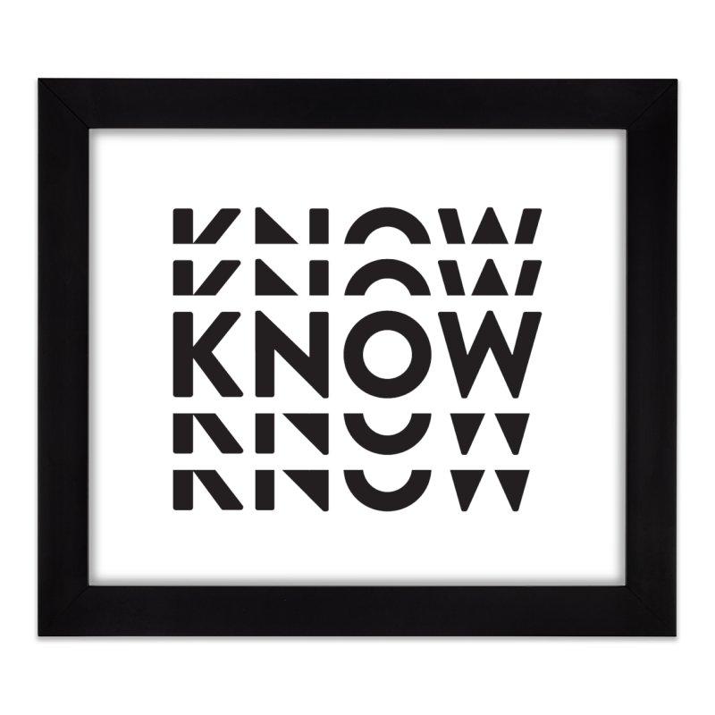 KNOW New Friends (Black) Home Framed Fine Art Print by KNOW Identity