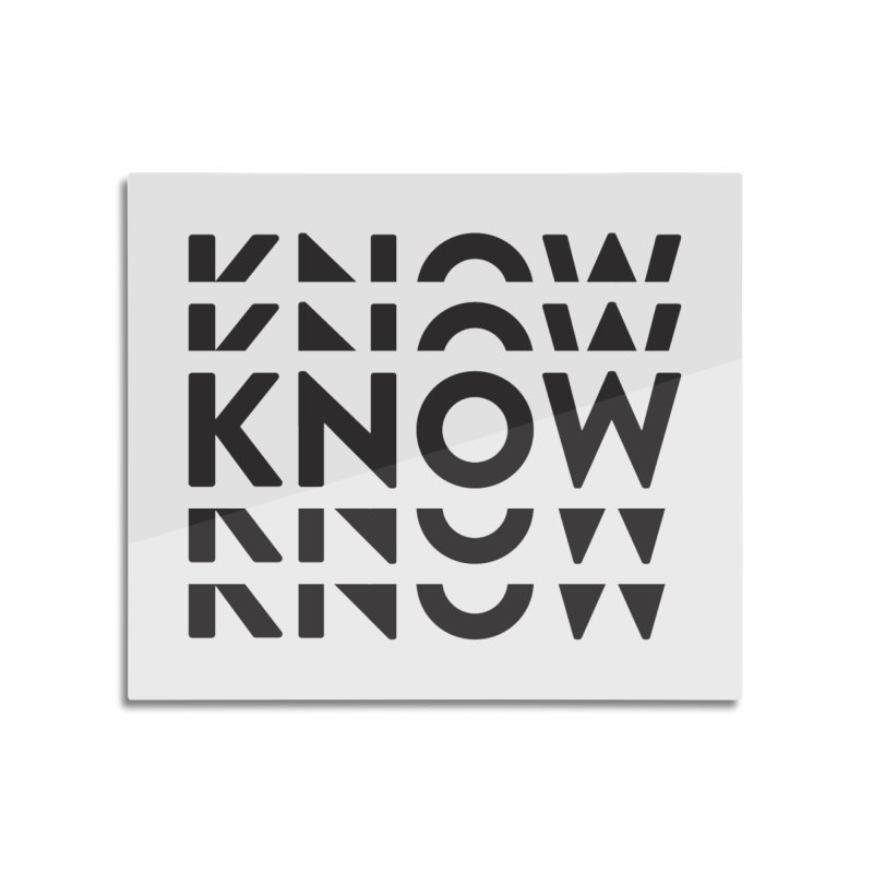 KNOW New Friends (Black) Home Mounted Aluminum Print by KNOW Identity