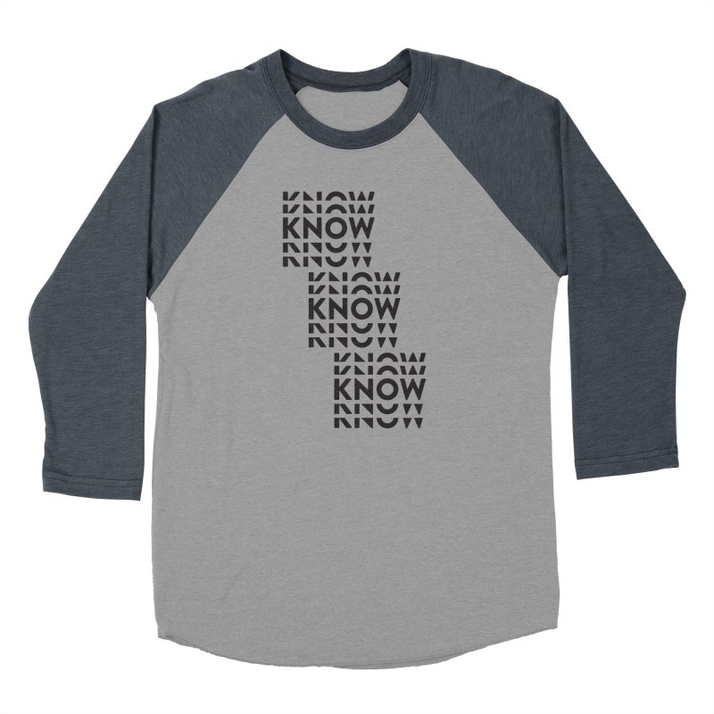 You Oughta KNOW Women's Baseball Triblend Longsleeve T-Shirt by KNOW Identity