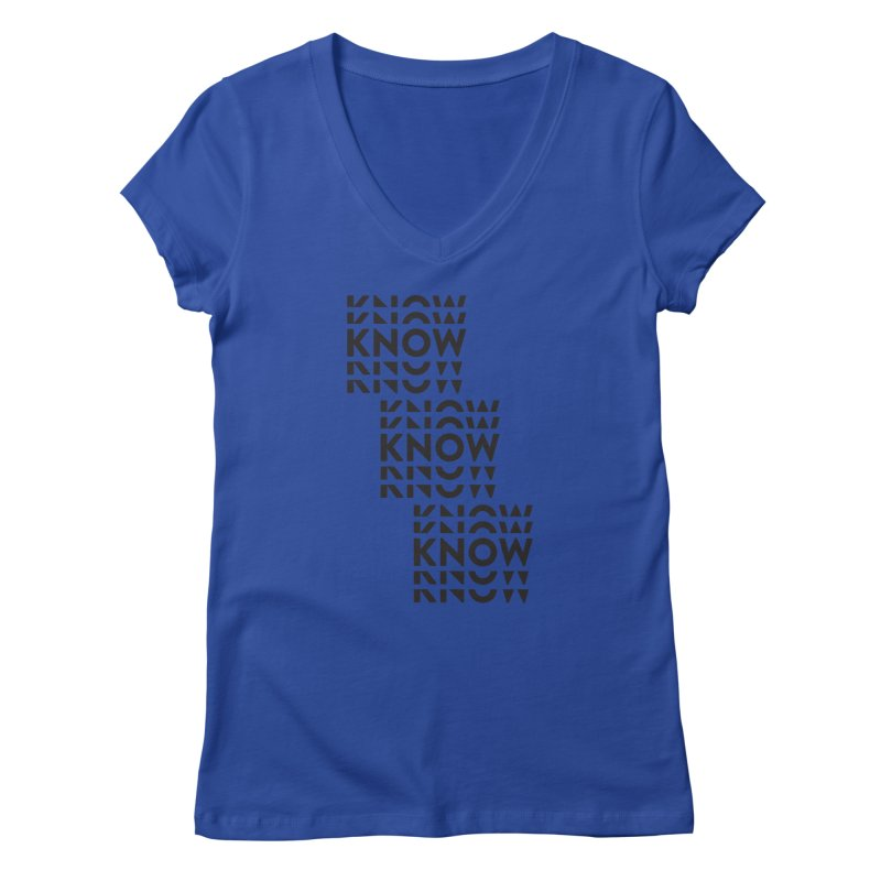 You Oughta KNOW Women's Regular V-Neck by KNOW Identity