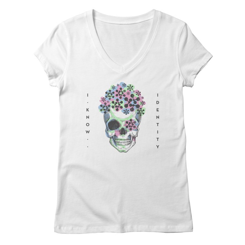 The Devil You KNOW (Color) Women's V-Neck by KNOW Identity