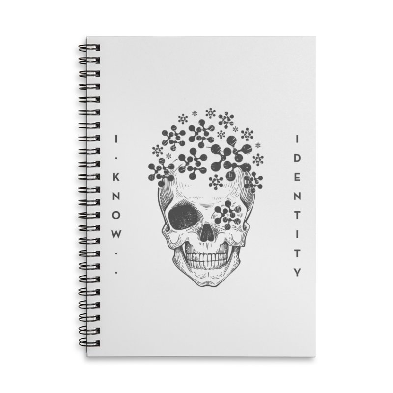 The Devil You KNOW (Black) Accessories Lined Spiral Notebook by KNOW Identity
