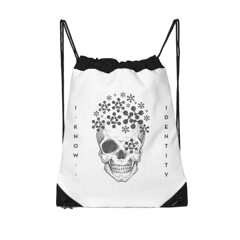 The Devil You KNOW (Black) Accessories Drawstring Bag Bag by KNOW Identity