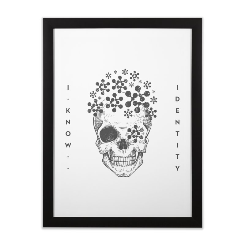 The Devil You KNOW (Black) Home Framed Fine Art Print by KNOW Identity