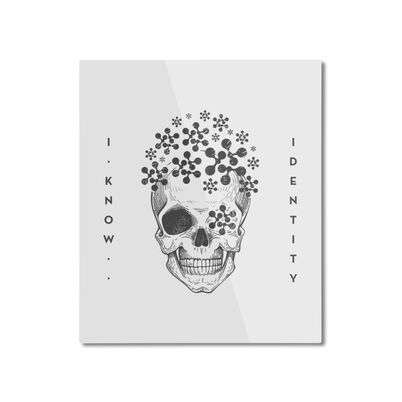 The Devil You KNOW (Black) Home Mounted Aluminum Print by KNOW Identity