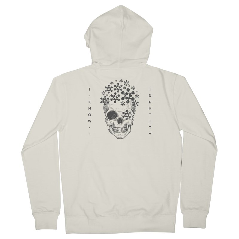 The Devil You KNOW (Black) Men's French Terry Zip-Up Hoody by KNOW Identity