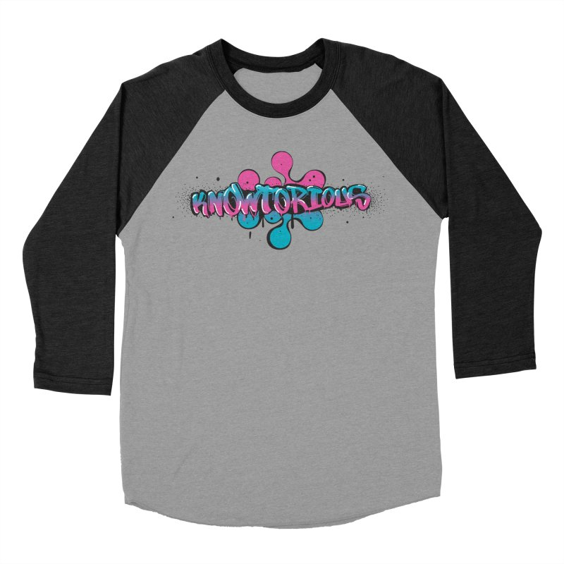 KNOWtorious Women's Baseball Triblend Longsleeve T-Shirt by KNOW Identity