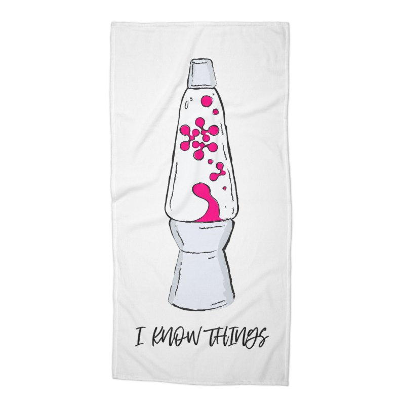 KNOW It All (Pink) Accessories Beach Towel by KNOW Identity