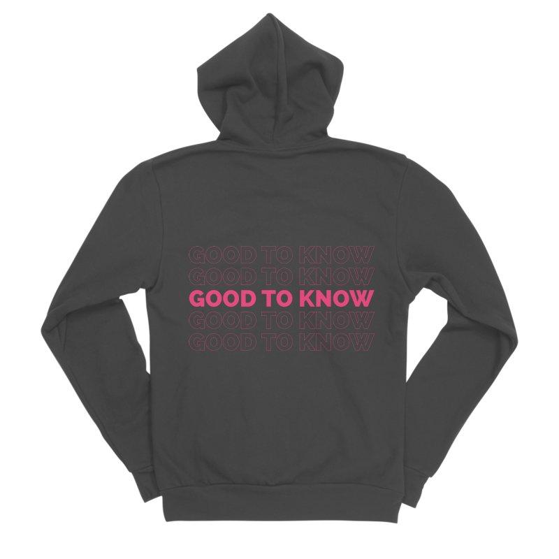 Good to KNOW Men's Sponge Fleece Zip-Up Hoody by KNOW Identity