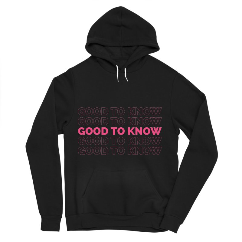 Good to KNOW Men's Sponge Fleece Pullover Hoody by KNOW Identity
