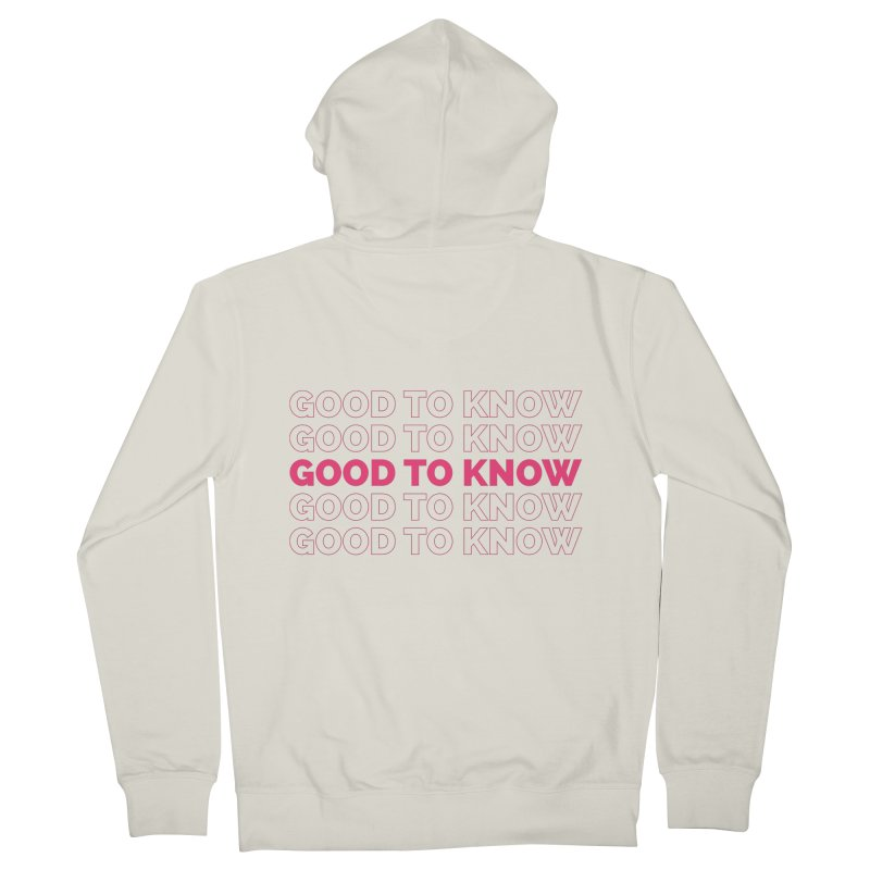 Good to KNOW Women's French Terry Zip-Up Hoody by KNOW Identity