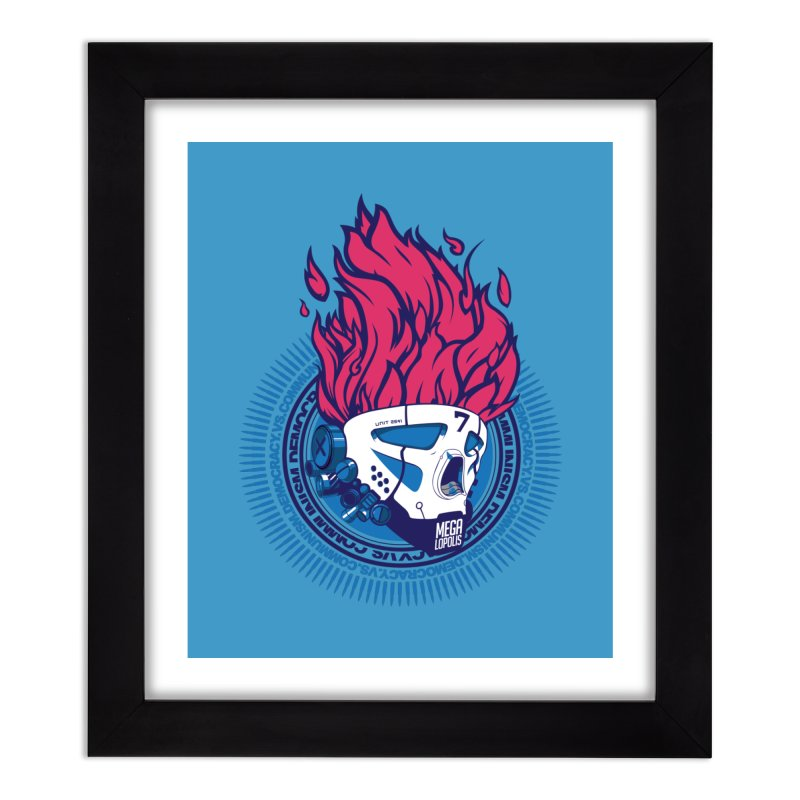 METROPOLIS... Home Framed Fine Art Print by KOBALT7threadless