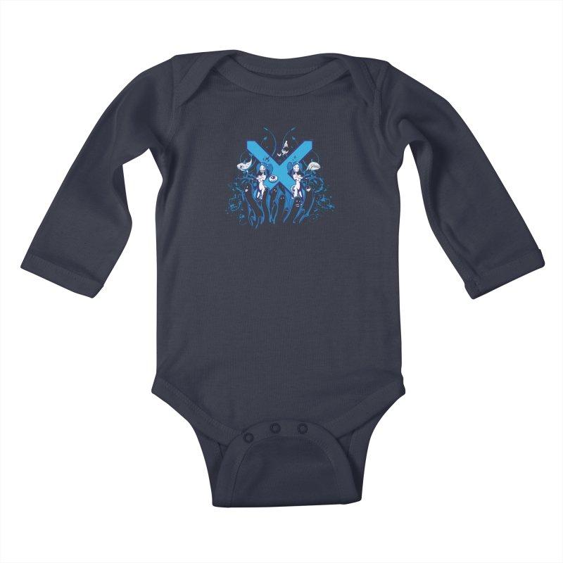 PLAN3T X-B Kids Baby Longsleeve Bodysuit by KOBALT7threadless