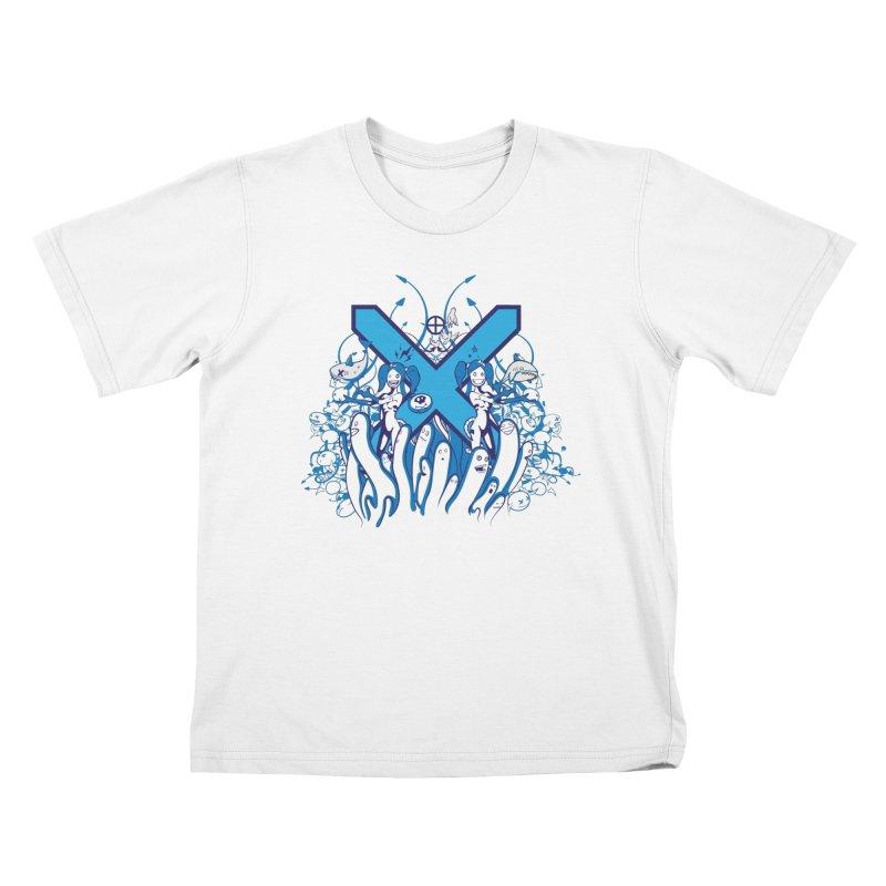 PLAN3T X-B Kids T-Shirt by KOBALT7threadless