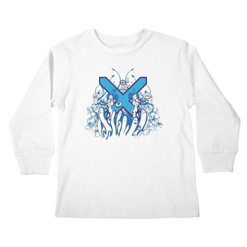 PLAN3T X-B Kids Longsleeve T-Shirt by KOBALT7threadless