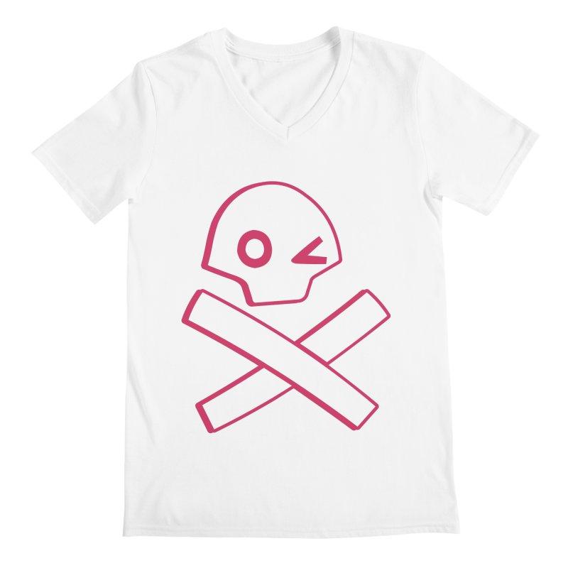 hipster pirate Men's V-Neck by KOBALT7threadless