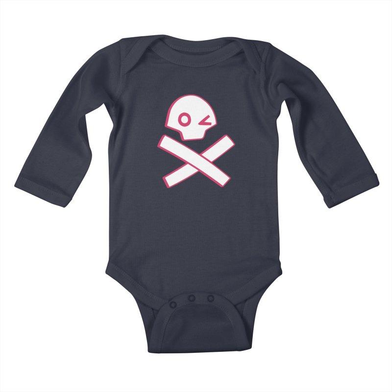 hipster pirate Kids Baby Longsleeve Bodysuit by KOBALT7threadless