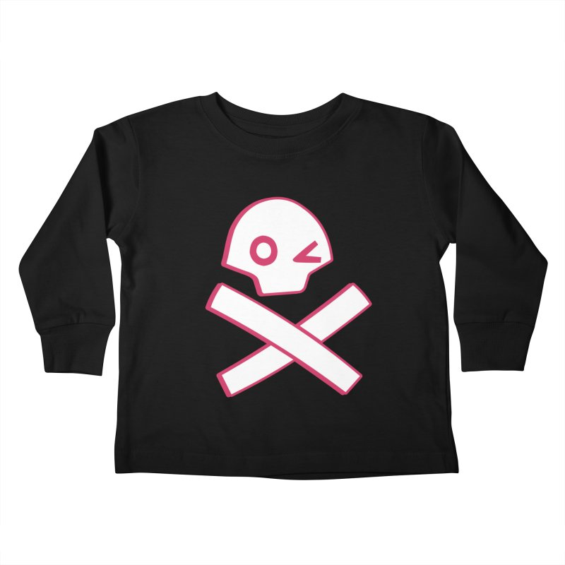 hipster pirate Kids Toddler Longsleeve T-Shirt by KOBALT7threadless