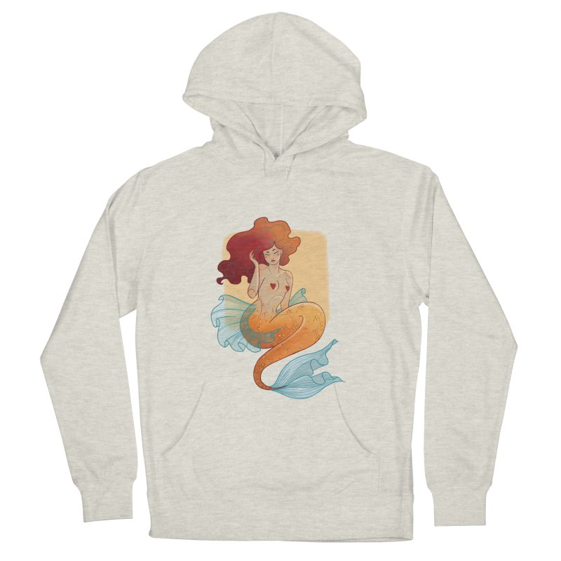 Mermaid Pin-up Men's French Terry Pullover Hoody by Kobrah's Artist Shop