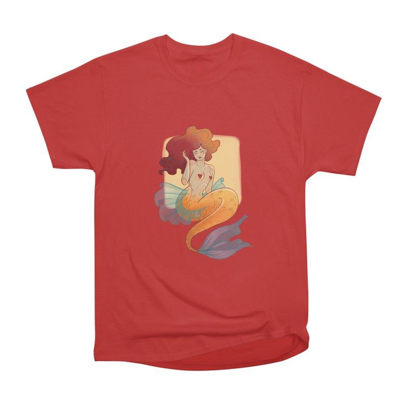 Mermaid Pin-up Men's Heavyweight T-Shirt by Kobrah's Artist Shop
