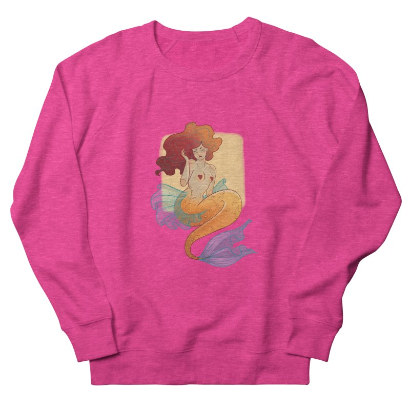Mermaid Pin-up Women's French Terry Sweatshirt by Kobrah's Artist Shop