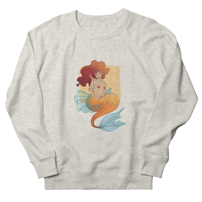 Mermaid Pin-up Men's French Terry Sweatshirt by Kobrah's Artist Shop
