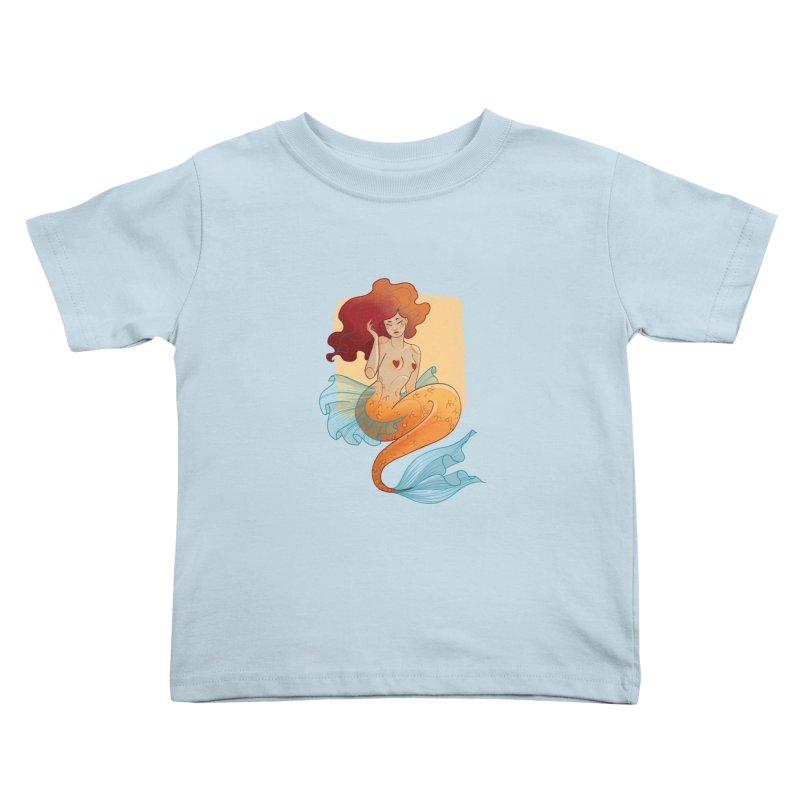 Mermaid Pin-up Kids Toddler T-Shirt by Kobrah's Artist Shop