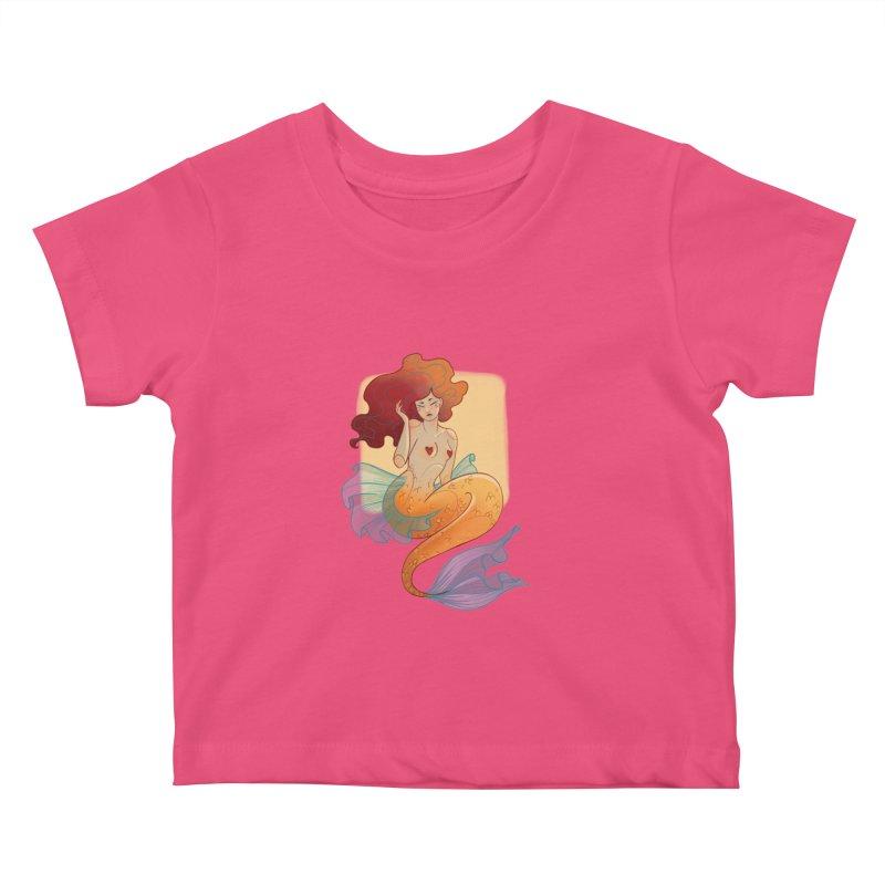 Mermaid Pin-up Kids Baby T-Shirt by Kobrah's Artist Shop
