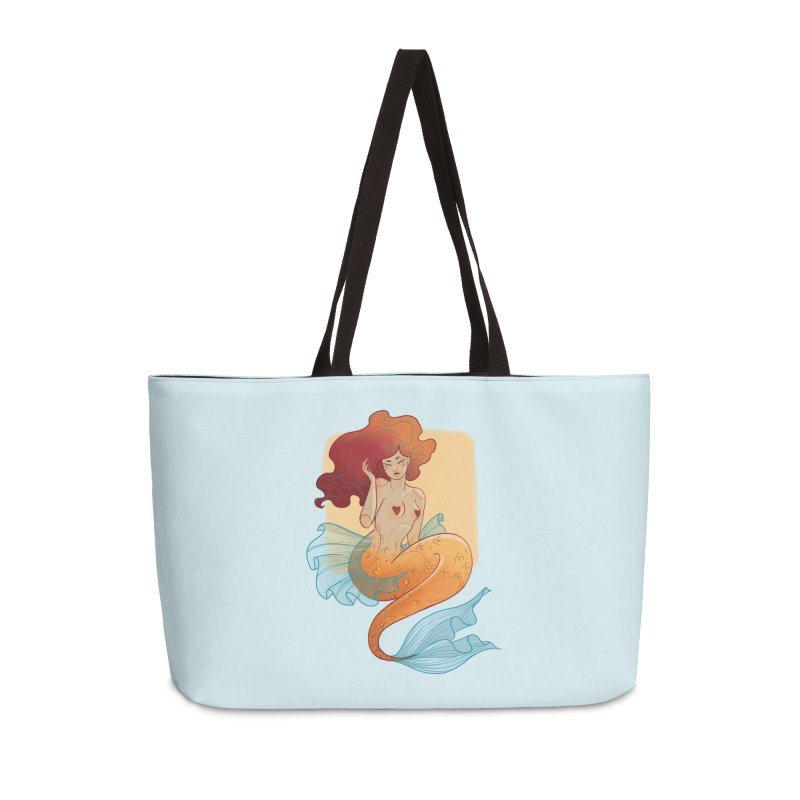 Mermaid Pin-up Accessories Weekender Bag Bag by Kobrah's Artist Shop