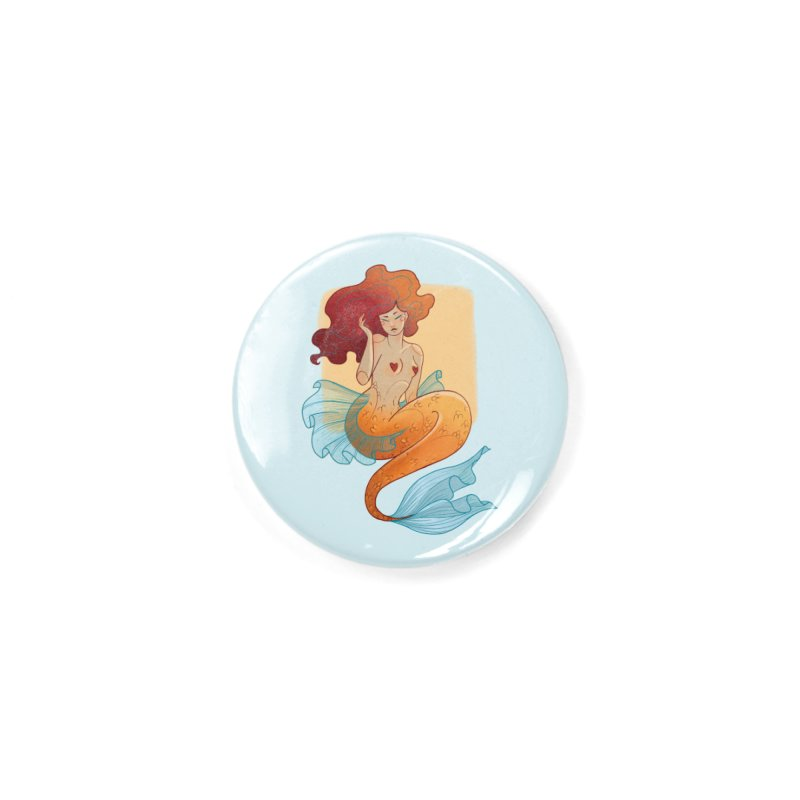 Mermaid Pin-up Accessories Button by Kobrah's Artist Shop