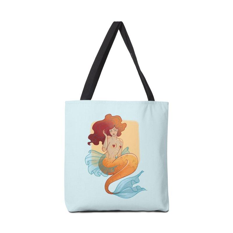 Mermaid Pin-up Accessories Tote Bag Bag by Kobrah's Artist Shop
