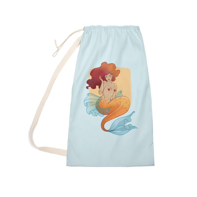 Mermaid Pin-up Accessories Laundry Bag Bag by Kobrah's Artist Shop