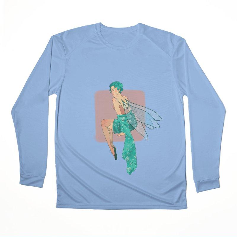 Pin-up Pixie Men's Performance Longsleeve T-Shirt by Kobrah's Artist Shop